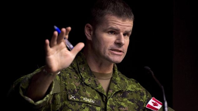 Commander Canadian Special Operations Forces Command Brigadier-General Michael Rouleau speaks during a technical briefing Monday, January 19, 2015 in Ottawa.