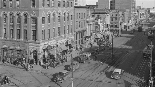 صورة لوسط مدينة إدمونتون في ثلاثينيات القرن الفائت