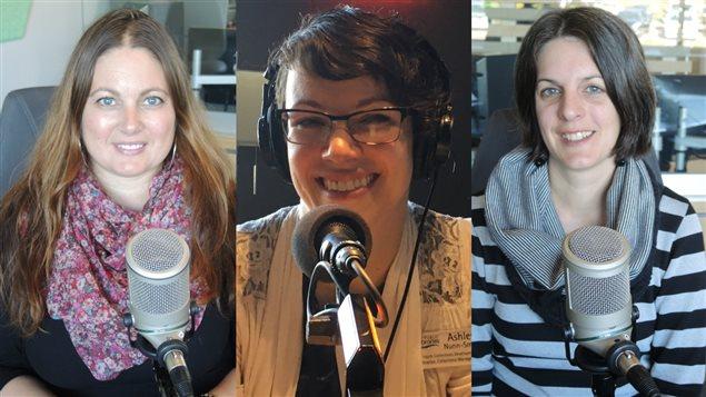 Tina Bourgeois, Ashley Nunn-Smith et Chantale Bellemare