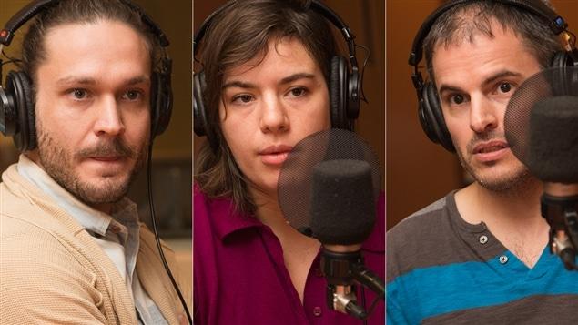 Jean-Piuerre Lachance, Morgane Duchêne Ramsey et Éric Bussières