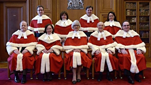 Jueces de la Corte Suprema de Canadá