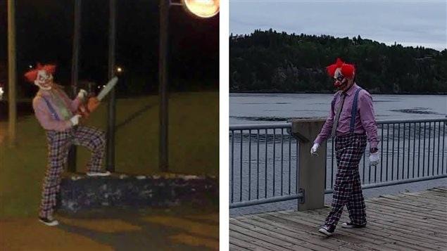 Des images du clown circulent sur les médias sociaux. PHOTO : FACEBOOK
