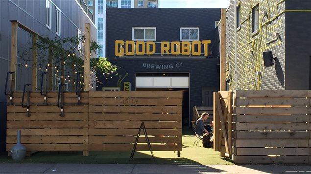 La brasserie Good Robot s'est installée à côté du centre islamique il y a un an et demi.