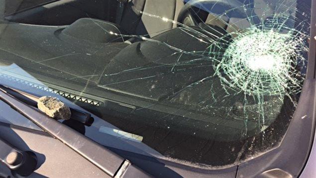 La voiture de Céline Carbonneau a été la cible de vandales