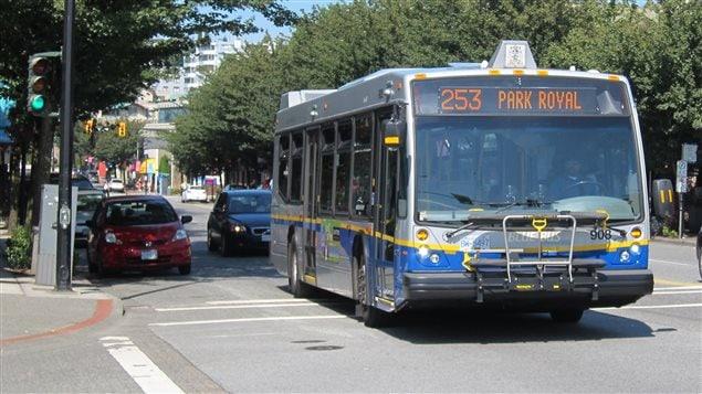 Un autobus à West Vancouver.