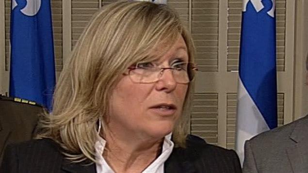 Francine Charbonneau, ministre responsable des Aînés du Québec
