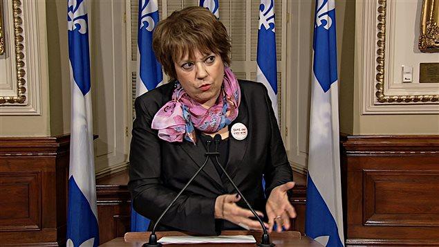 وزيرة التعليم العالي في حكومة كيبيك هيلين دافيد (أرشيف)