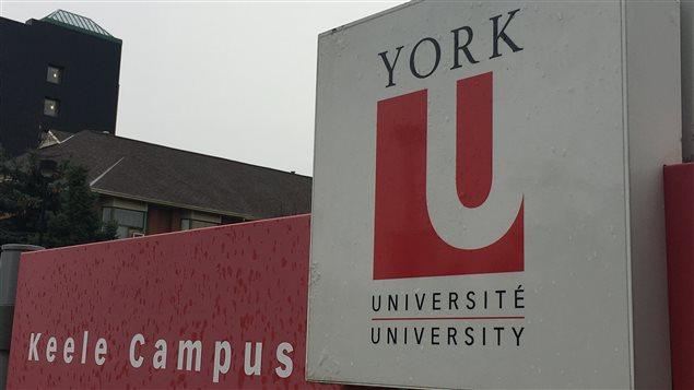 Affiche de l'Université York.