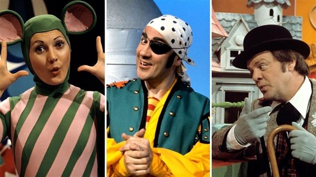 La Souris verte (Louisette Dussault) en 1970, le pirate Maboule (Jacques Létourneau) en 1968, et Bobino (Guy Sanche) en 1975, sont des personnages légendaires qui ont marqué les émissions pour enfants de Radio-Canada.