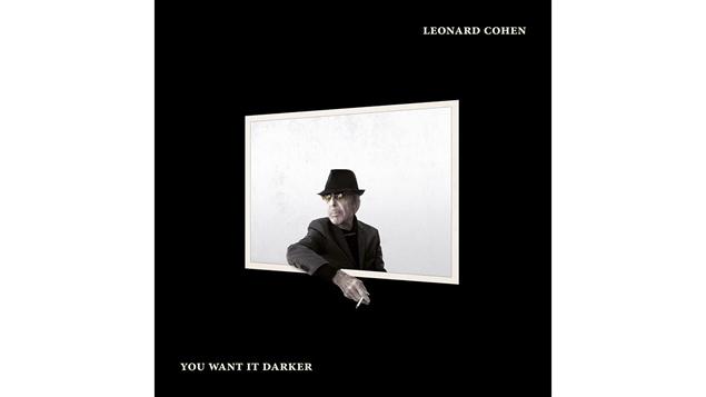 Pochette de l'album <i>You Want It Darker</i> de Leonard Cohen, paru sous �tiquette Sony