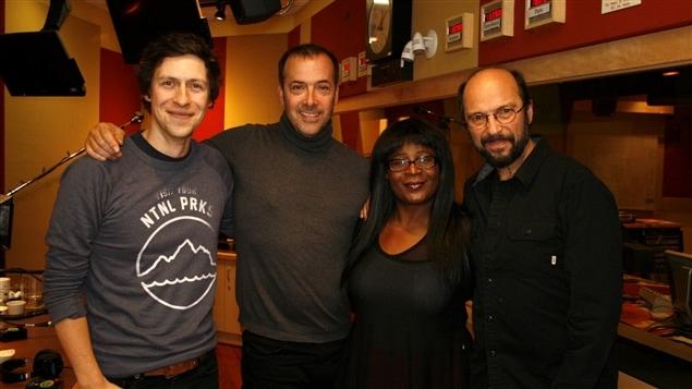 Patrice Michaud, Pierre Brassard, Marie-Jos�e Lord et Michel Rivard