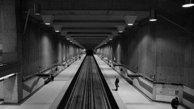 Estación Verdun de la línea verde del metro de Montreal.