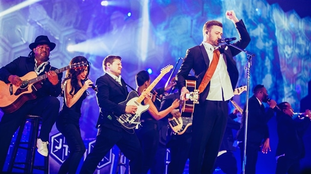 Justin Timberlake et ses musiciens