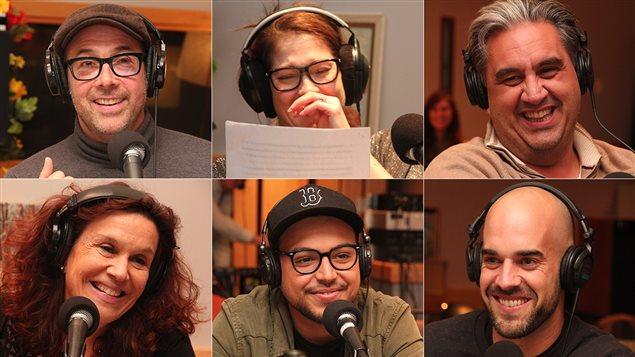 Pierre Brassard a le c�ur � la f�te en compagnie de l'humoriste Mehdi Bousaidan et des � gobelets � Julie Pelletier, Sophie Faucher, Marc Hervieux et Matthieu Proulx.
