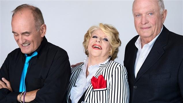 Jo�l Denis, Shirley Th�roux et Pierre Marcotte, alias Les tannants