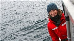 Sarah Fortune, PhD candidate in the UBC zoology dept studying bowhead whales in the Arctic and sub-Arctic