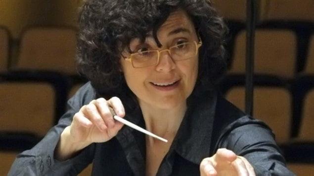 La chef d'orchestre de l'ECM  V�ronique Lacroix