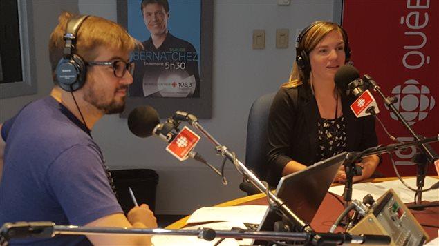 André-Pier Bérubé et Sandra Lalancette de la Bande des Deux.