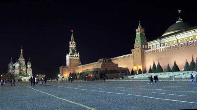 La Plaza Roja en Moscú, Rusia