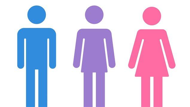 Figures d'homme, de transgenre et de femme