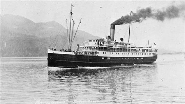 Canadian Steamships Line, Princess Sophia, about 245 ft long, 1912-1918.