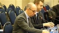 Stéphane Forget et David Lorette, de la Fédération des Chambres de commerce du Québec