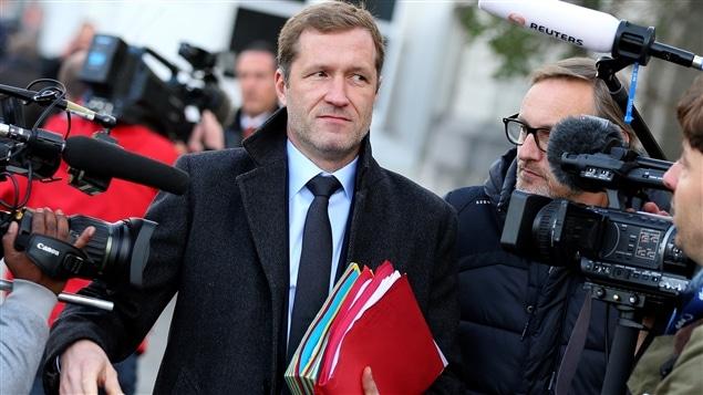 Le ministre-pr�sident du gouvernement r�gional de Wallonie, Paul Magnette