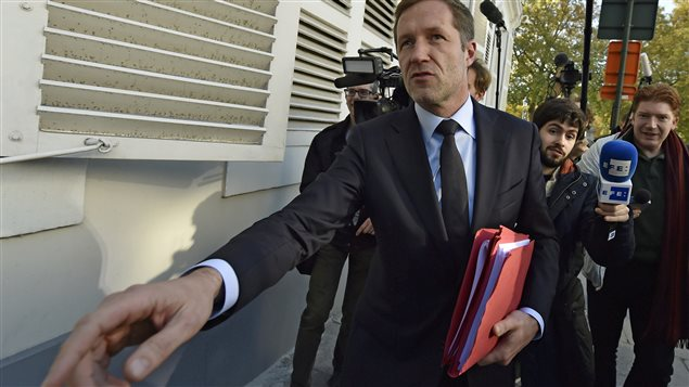 Minister-President of Wallonia Paul Magnette arrives to a meeting on the Comprehensive Economic and Trade Agreement (CETA), a planned EU-Canada free trade agreement, at the Lambermont Residence in Brussels, Belgium, October 26, 2016.