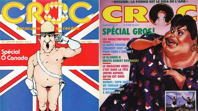 Deux premières de couverture du magazine Croc