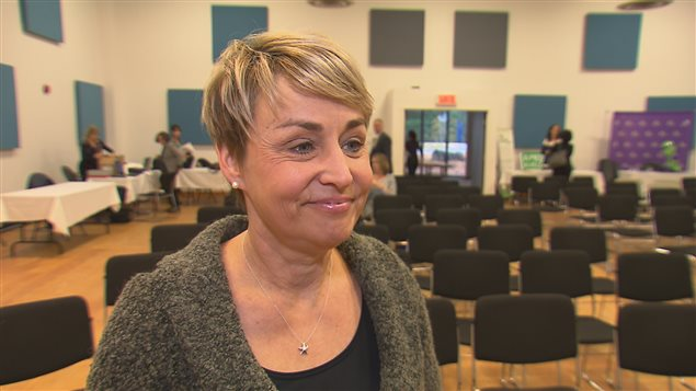 Sylvie Bernier ambassadrice des saines habitudes de vie.