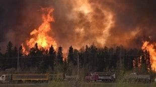 L'immense feu de forêt de Fort McMurray de 2016.