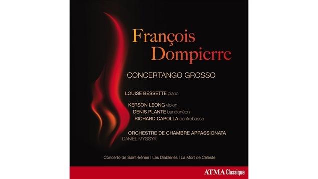 Pochette de l'album <i>François Dompierre : Concertango Grosso</i> de Louise Bessette, paru sous étiquette Atma Classique