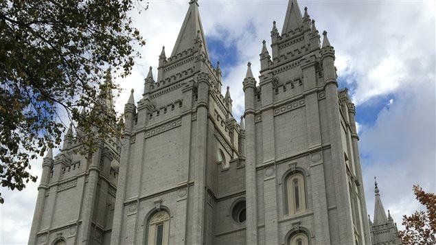 Temple de l'Église de Jésus-Christ des saints des derniers jours à Salt Lake City, Utah.