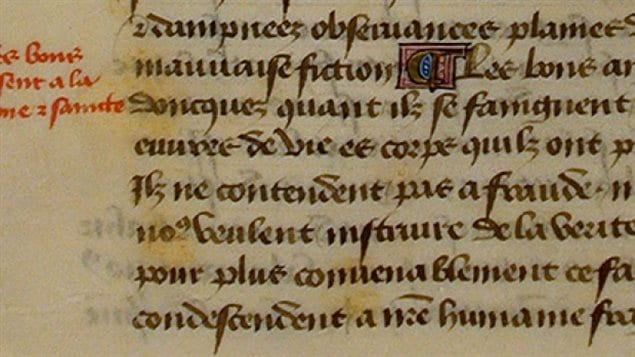 Handwritten in medieval French, around 1460. Tintor's treatise, is a magnificent velvet clad, wood-bound, but ultimately sinister book calling for those in power to seek out witches and acts as an intellectual justification for their eradication.