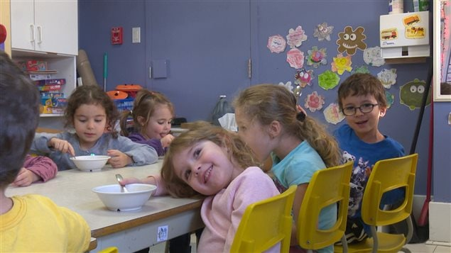 Enfants dans un CPE de Rouyn-Noranda