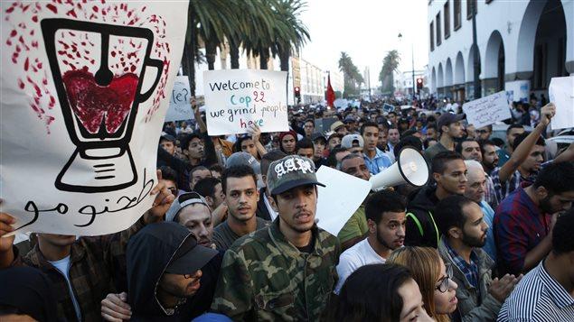 Une des manifestations dans le Rif (Nord) du Maroc