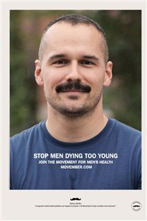 Patrice Lavoie is one of Canada's volunteer ambassadors and spokeman for the Movember Foundation for the pfovinde of Quebec.
