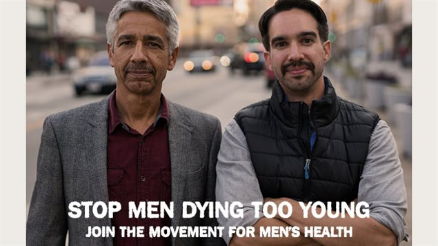 The Movmember Foundation asks men to become a Mo Bro  (or Mo Sister) for men's health issues. One slogan is *Grow a mo, save a bro*
