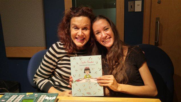 Sophie Faucher y Cara Carmina en entrevista en Radio Canadá Internacional.