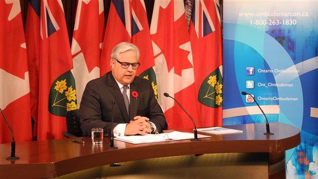 L'ombudsman de l'Ontario, Paul Dubé