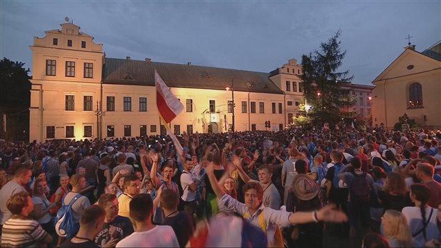 Des milliers de jeunes participent aux Journées mondiales de la jeunesse à Cracovie
