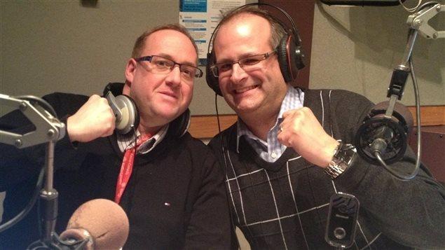Duo de la passerelle avec Patrick Henri et Marc-Éric Bouchard