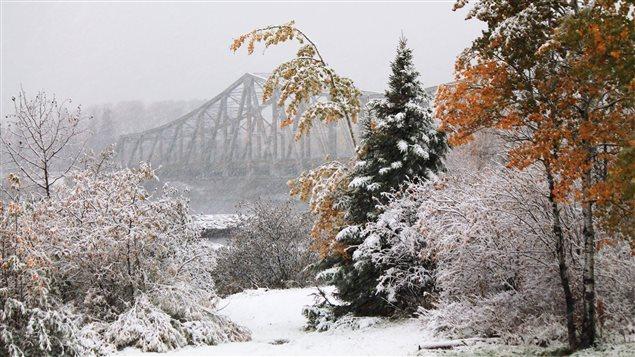 L'hiver à Smooth Rock Falls