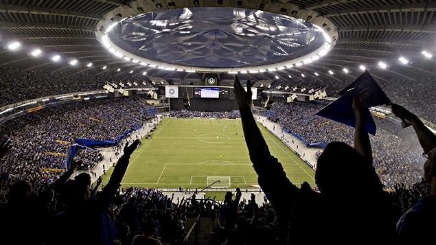 60 004 hinchas asistieron al partido entre el Impact de Montreal y el Club América de México, el 29 de abril 2015.