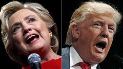 Élection aux États-Unis : la candidate démocrate Hillary Clinton et le candidat républicain Donald Trump