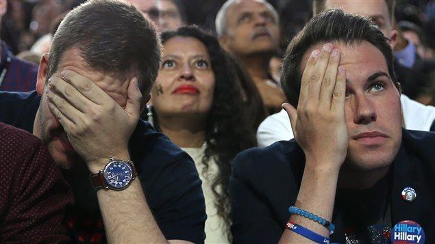 Des partisans démocrates déçus des résultats de l'élection présidentielle