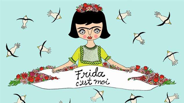 Page couverture de l'album jeunesse « Frida c'est moi » écrit par Sophie Faucher et illustré par Cara Carmina