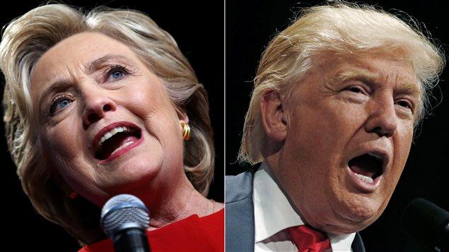 Élection aux États-Unis : la candidate démocrate Hillary Clinton et le candidat républicain Donald Trump    PHOTO : REUTERS STAFF / REUTERS