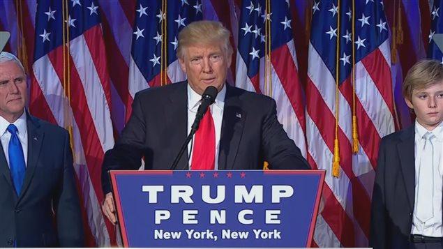 Donald Trump livre son premier discours après sa victoire