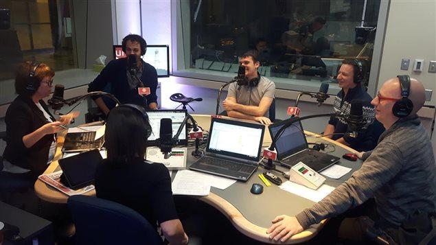 Le groupe QW4RTZ à l'émission Facteur matinal (9 novembre 2016)
